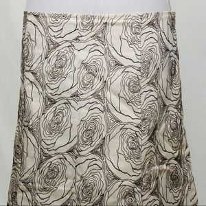 Anthropologie Skirts - Ruth Size 8 Rose Embroidered Lined A-Line Skirt